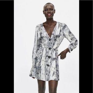 NWT Zara Snake Skin Mini Dress